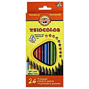 Цветные карандаши Koh-i-Noor трехгранные Triocolor d=3.2мм