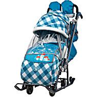 Санки коляска Ника Детям 7 4 Капри в клетку
